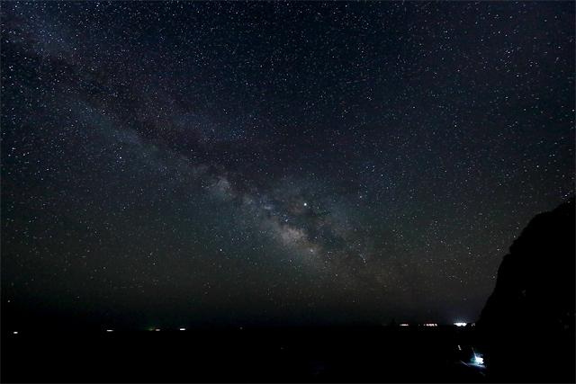 ホテル明星から望む星空